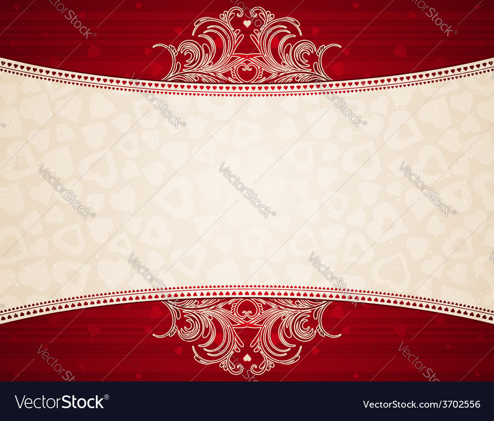 Red background with valentines heart vector | Price: 1 Credit (USD $1)