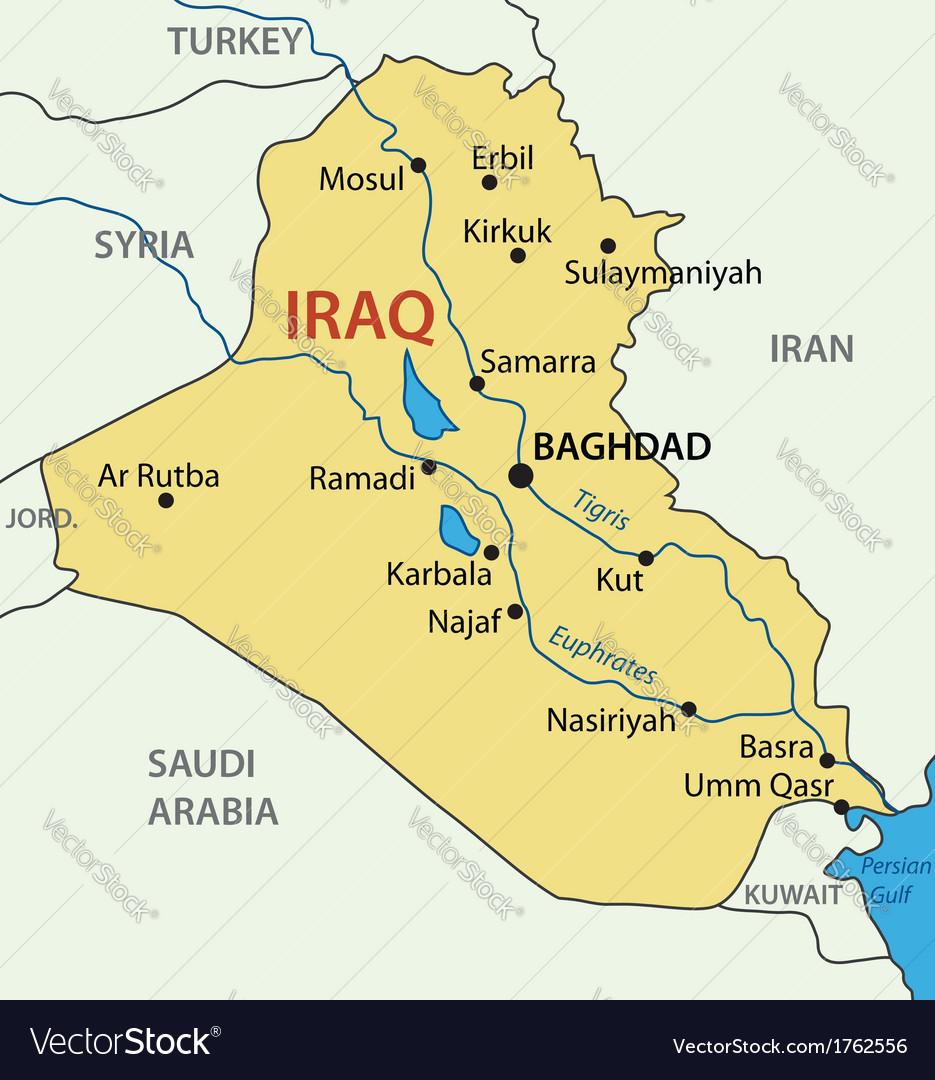 Republic of iraq - map vector   Price: 1 Credit (USD $1)