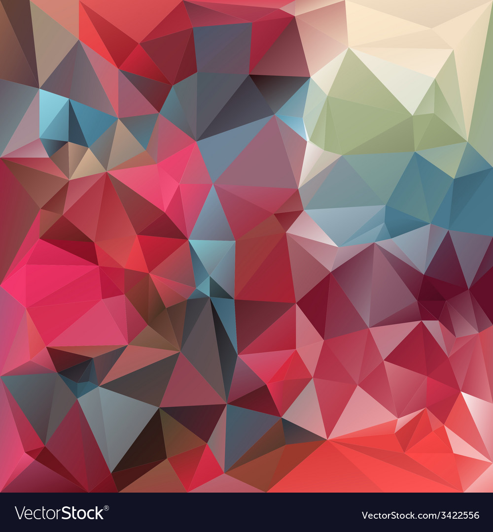Strawberry red polygonal triangular pattern vector | Price: 1 Credit (USD $1)