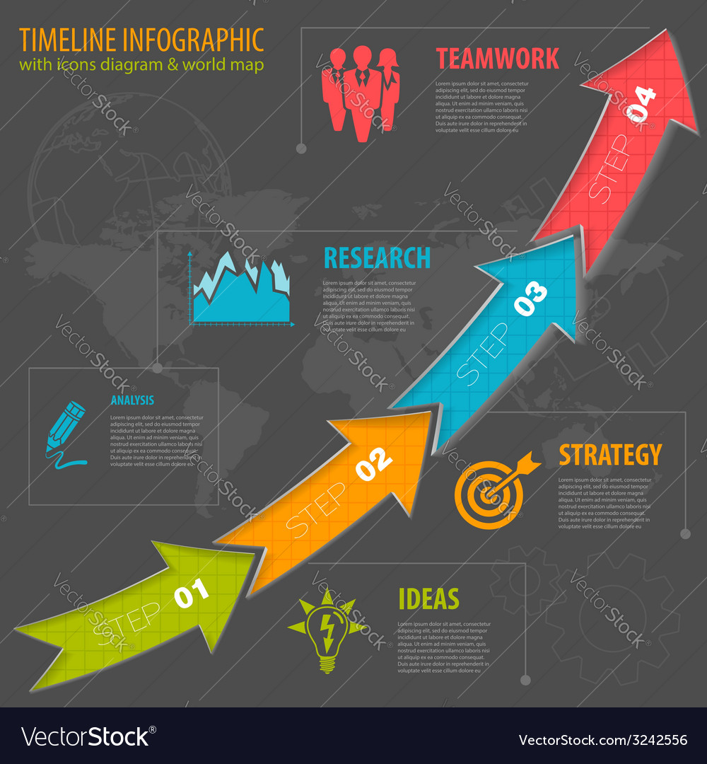 Timeline infographic vector   Price: 1 Credit (USD $1)
