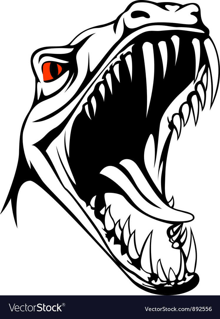 Tyrannosaurus head vector | Price: 1 Credit (USD $1)