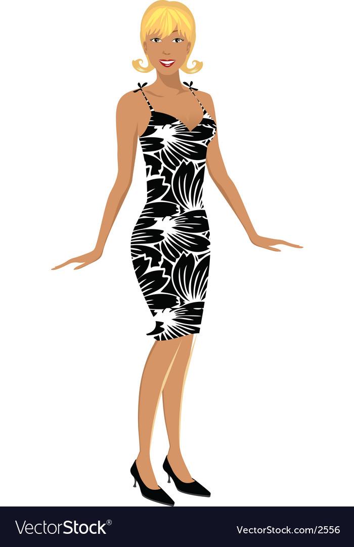 Zebra girl illustration vector | Price: 3 Credit (USD $3)