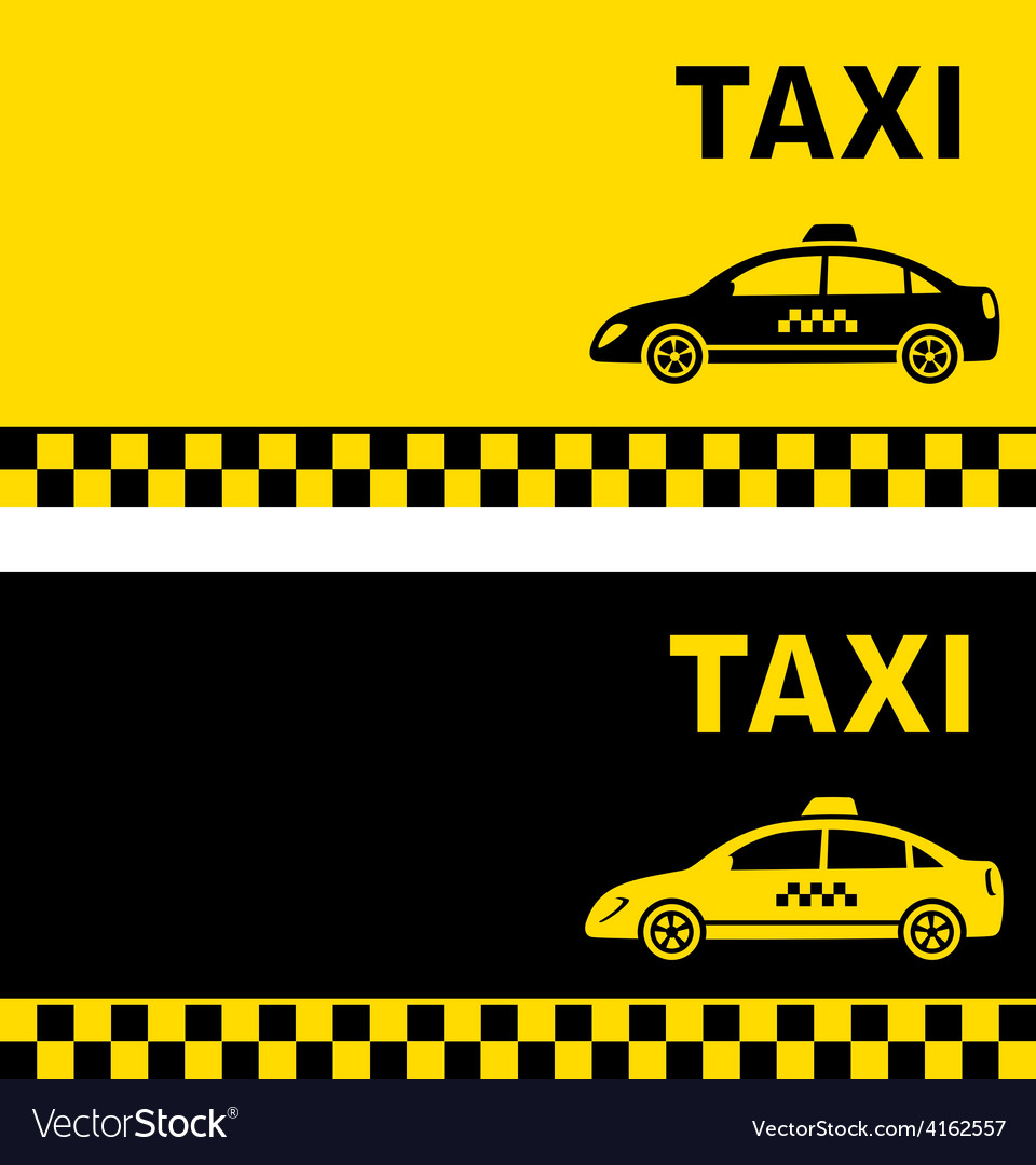 Black and yellow taxi business card vector | Price: 1 Credit (USD $1)