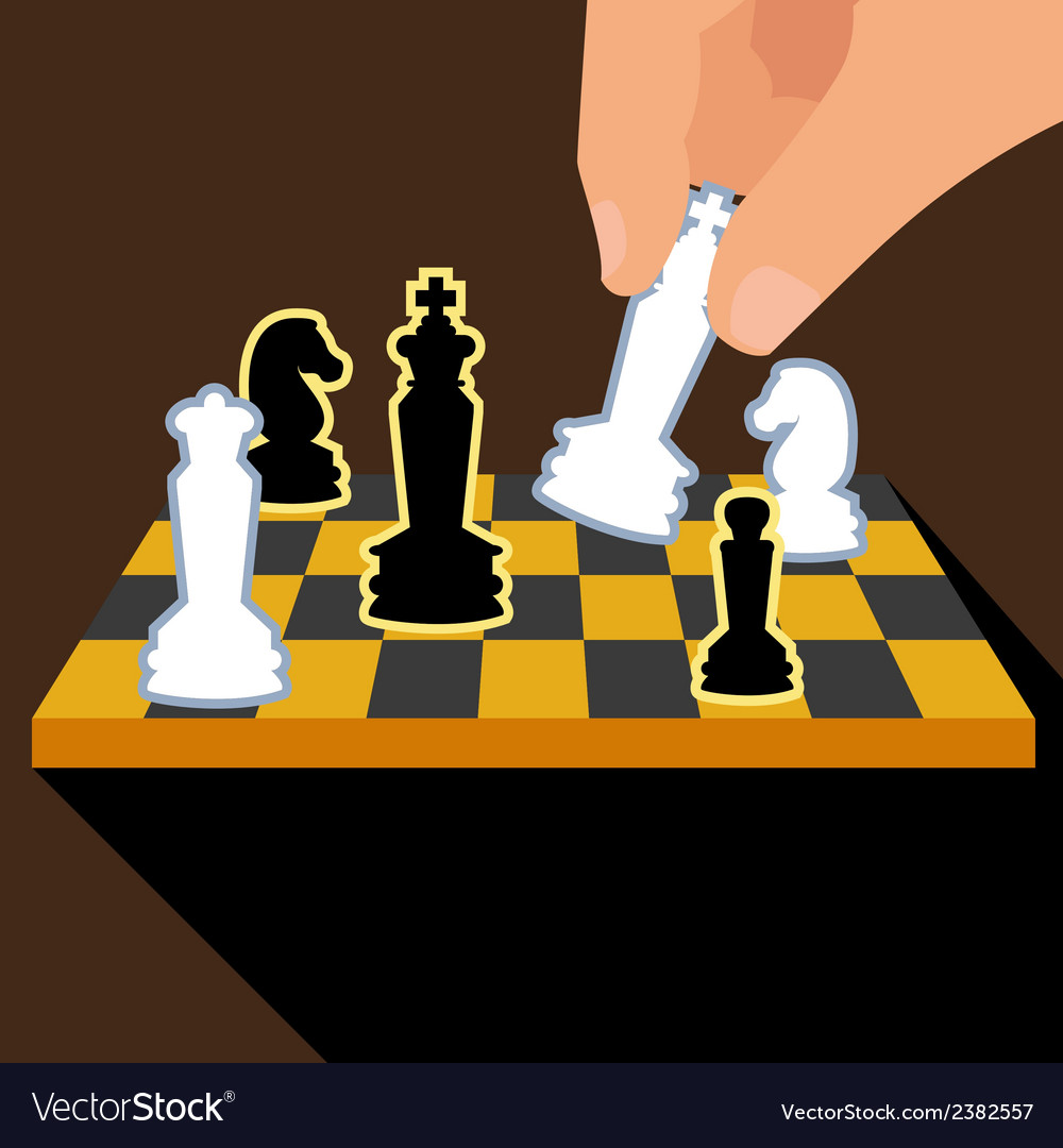 Business strategy with chess figures of chess vector | Price: 1 Credit (USD $1)