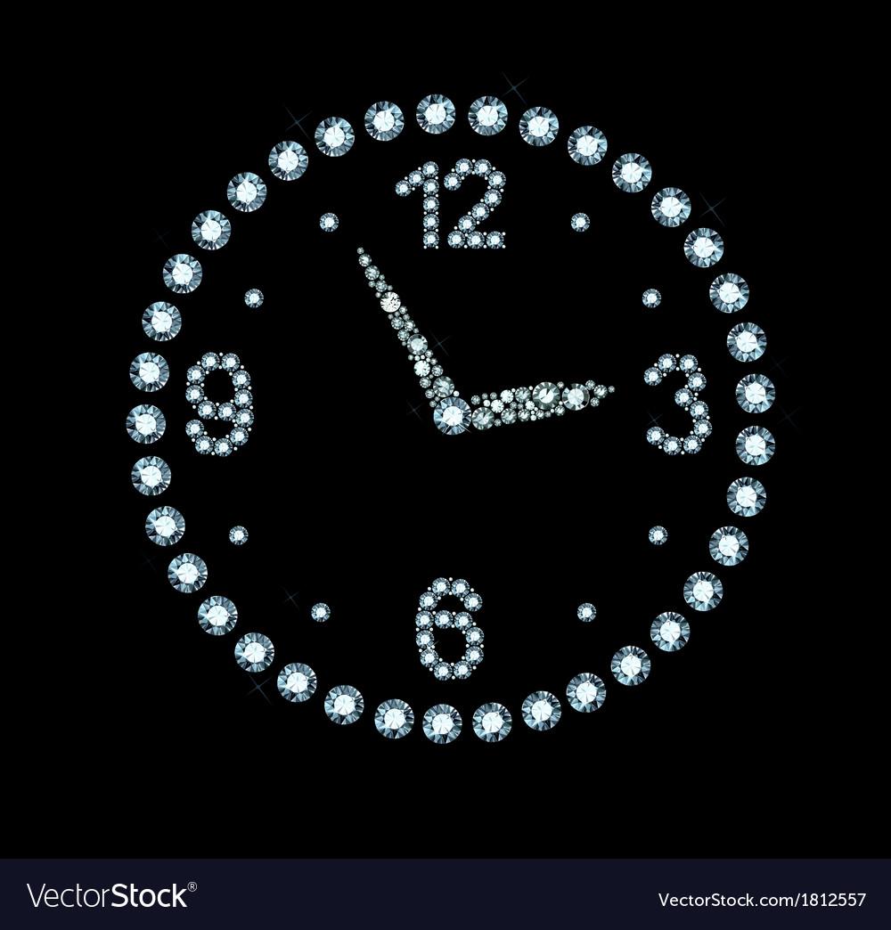Diamond clock vector | Price: 1 Credit (USD $1)