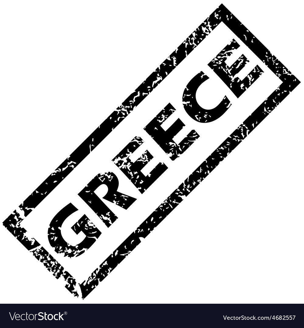 Greece rubber stamp vector | Price: 1 Credit (USD $1)