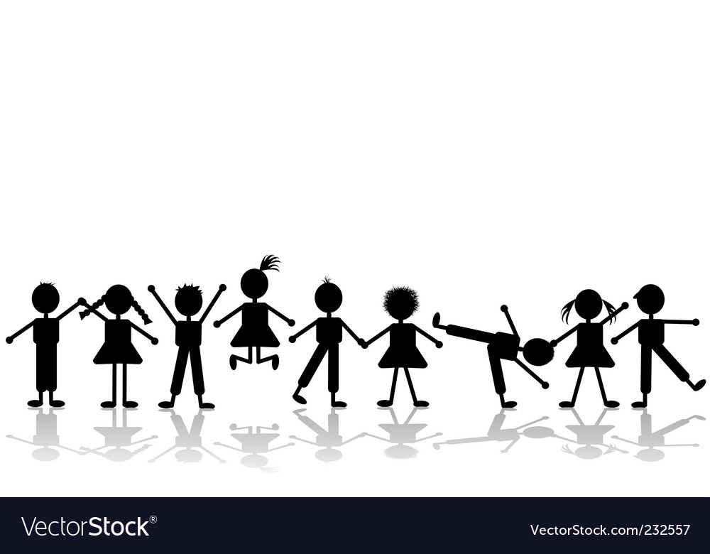 Happy children vector