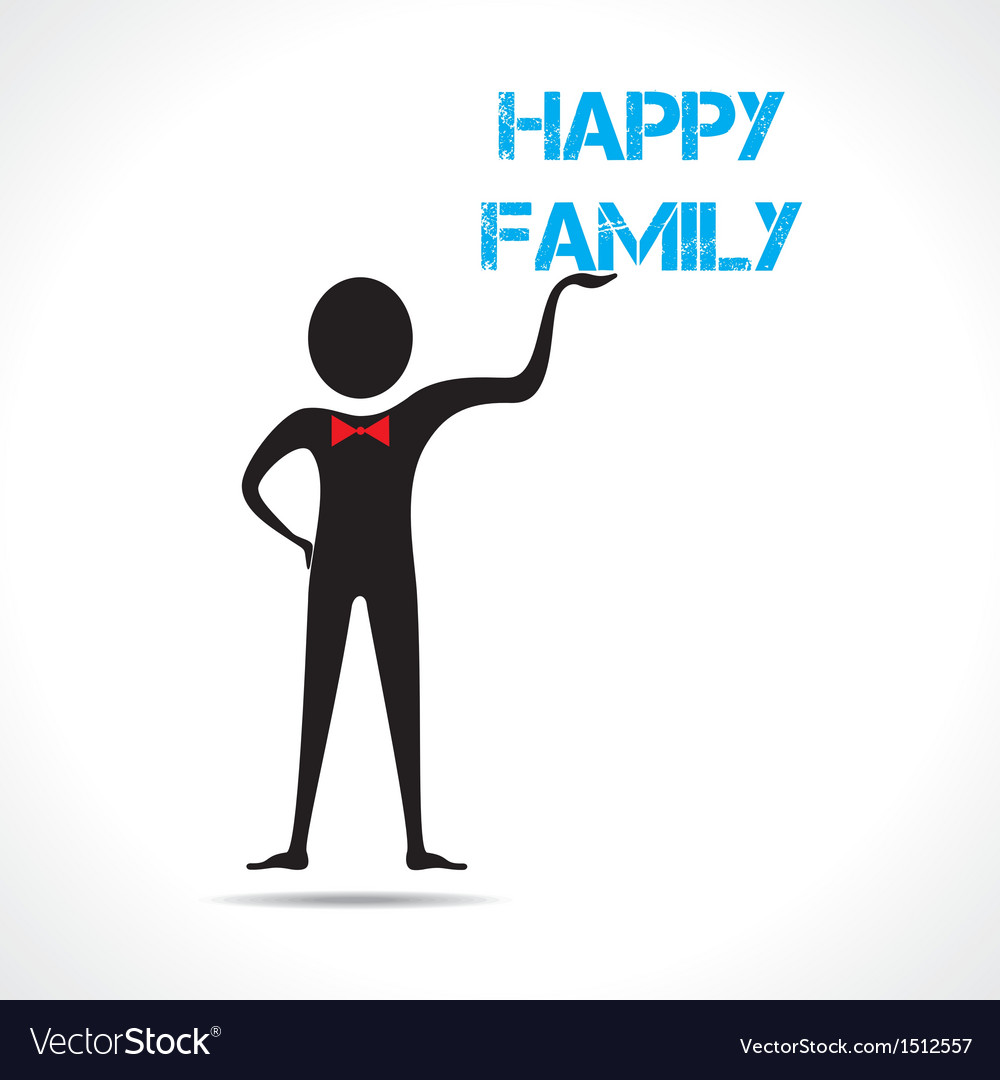 Man holding family text vector | Price: 1 Credit (USD $1)