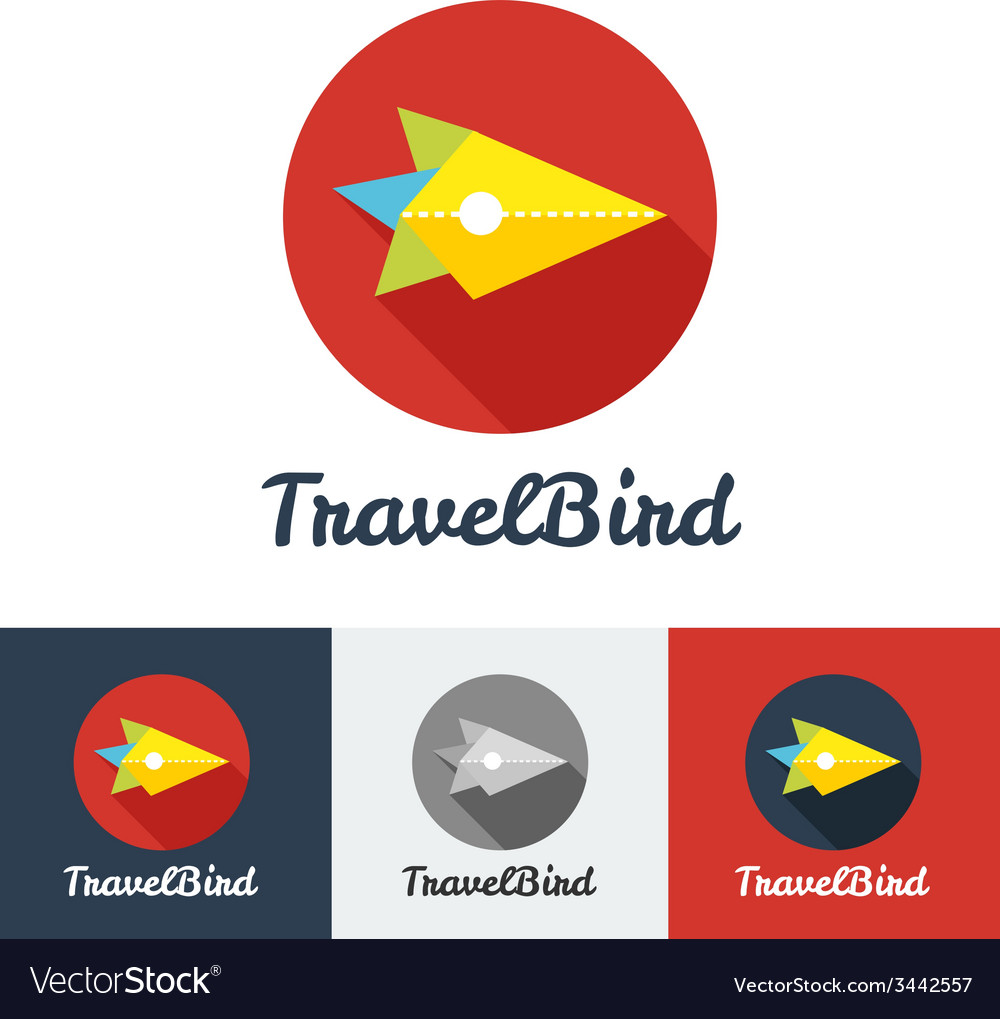 Modern flat creative travel company minimalistic vector | Price: 1 Credit (USD $1)