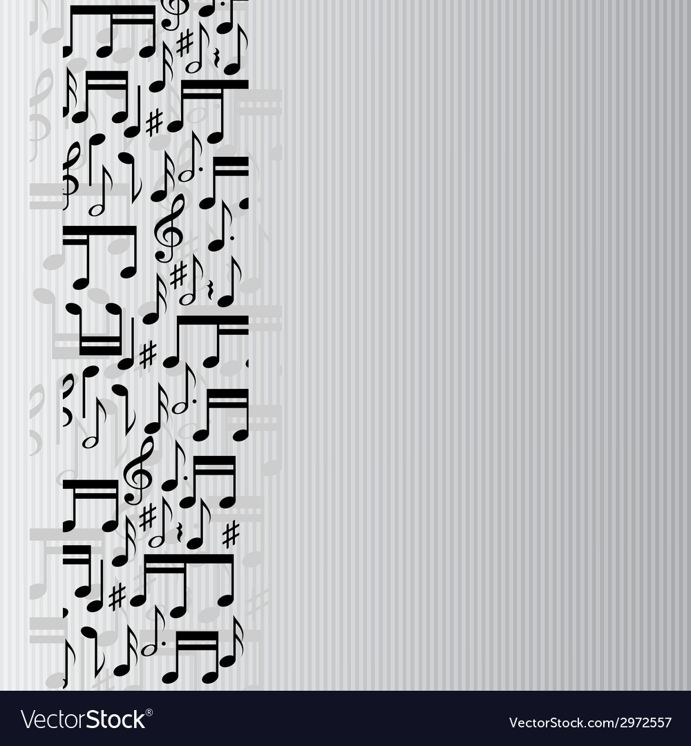 Music notes background vector | Price: 1 Credit (USD $1)