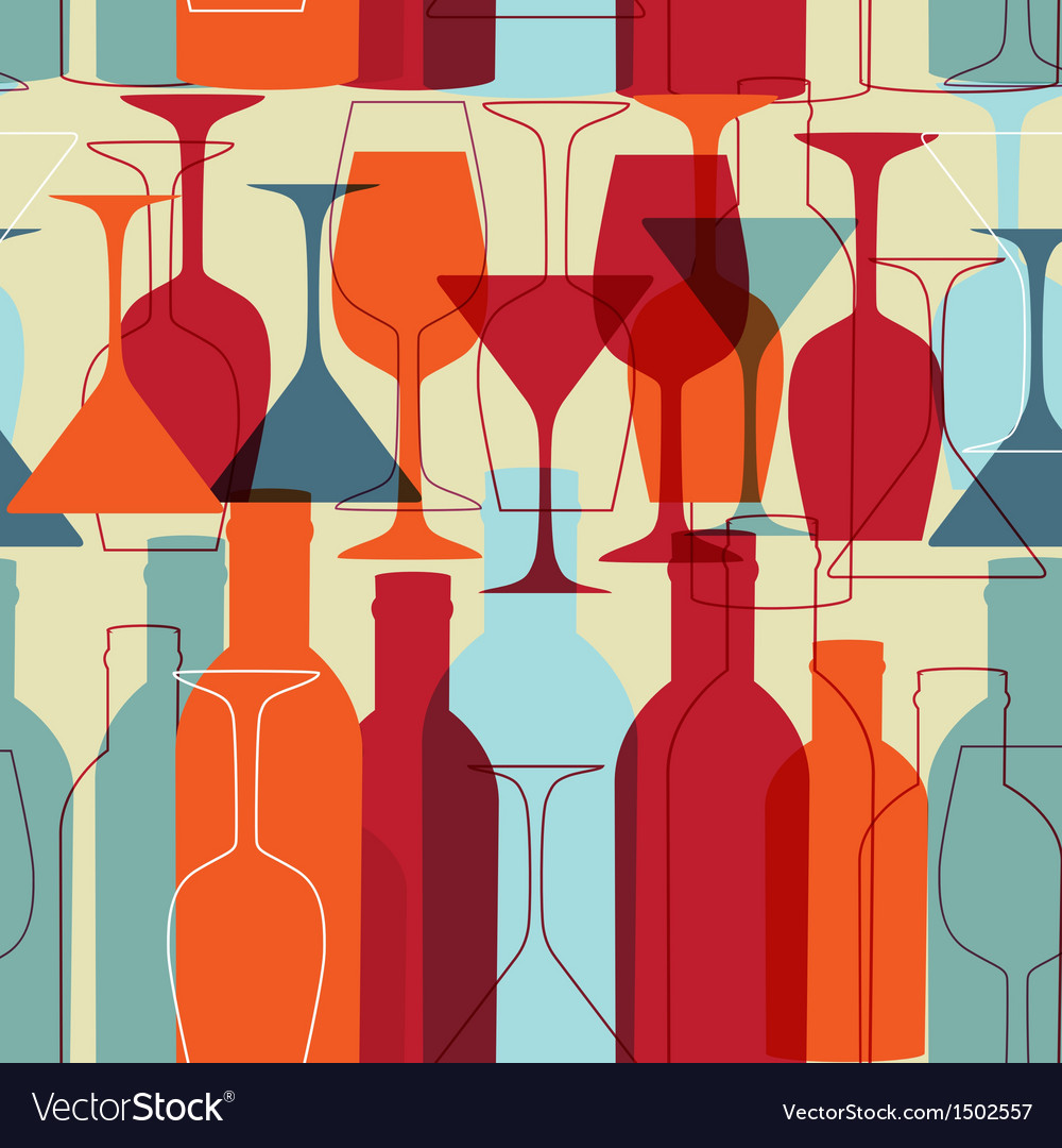 Restaurant or wine bar menu design seamless vector | Price: 1 Credit (USD $1)