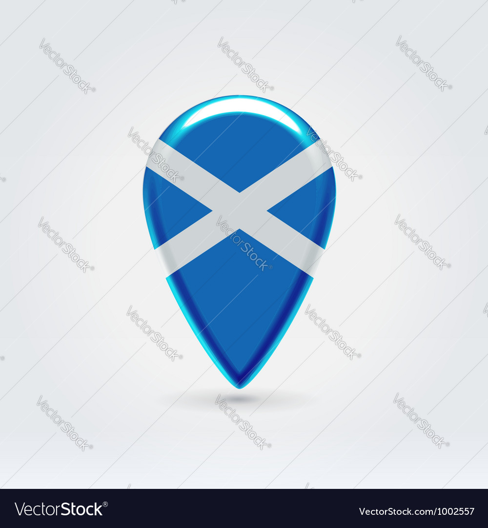 Scotish icon point for map vector | Price: 1 Credit (USD $1)