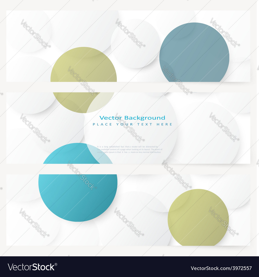 Set of abstract template banner vector | Price: 1 Credit (USD $1)