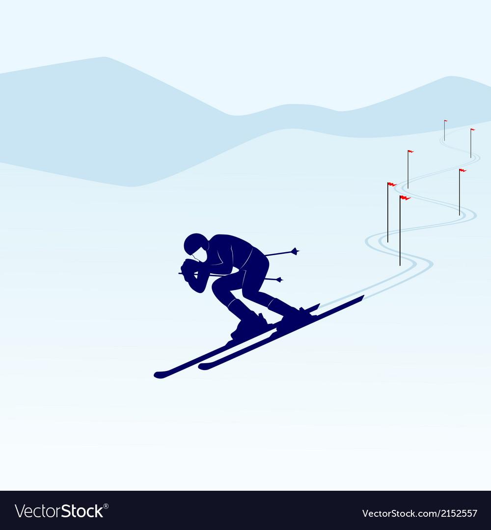 Slalom vector | Price: 1 Credit (USD $1)