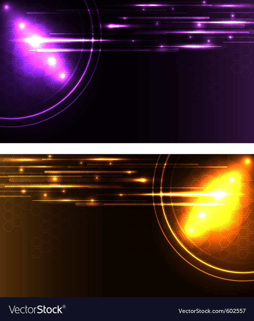 Stylized glowing backgrounds in wide-screen format vector | Price: 1 Credit (USD $1)