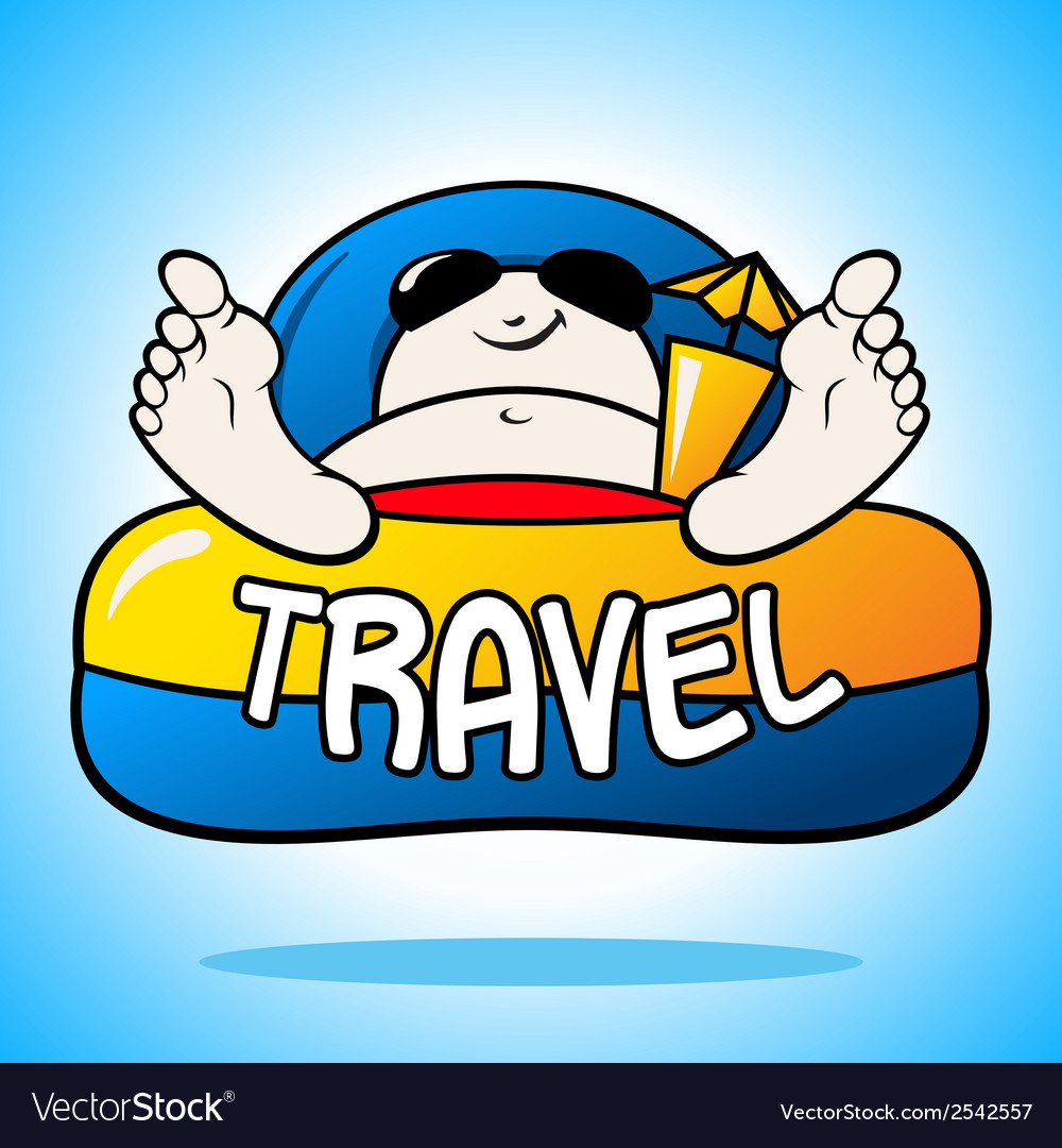 Tourist on vacation sign vector | Price: 1 Credit (USD $1)