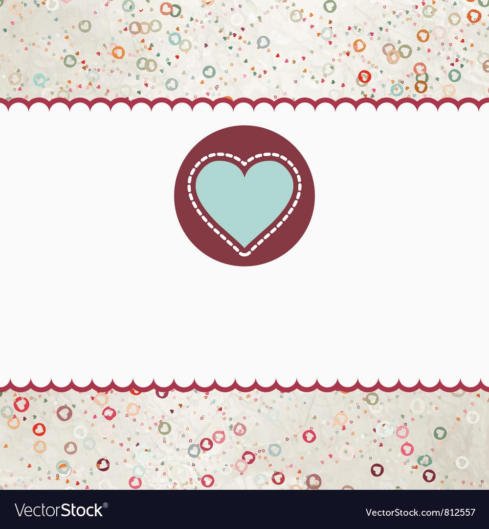 Valentine heart card vector   Price: 1 Credit (USD $1)