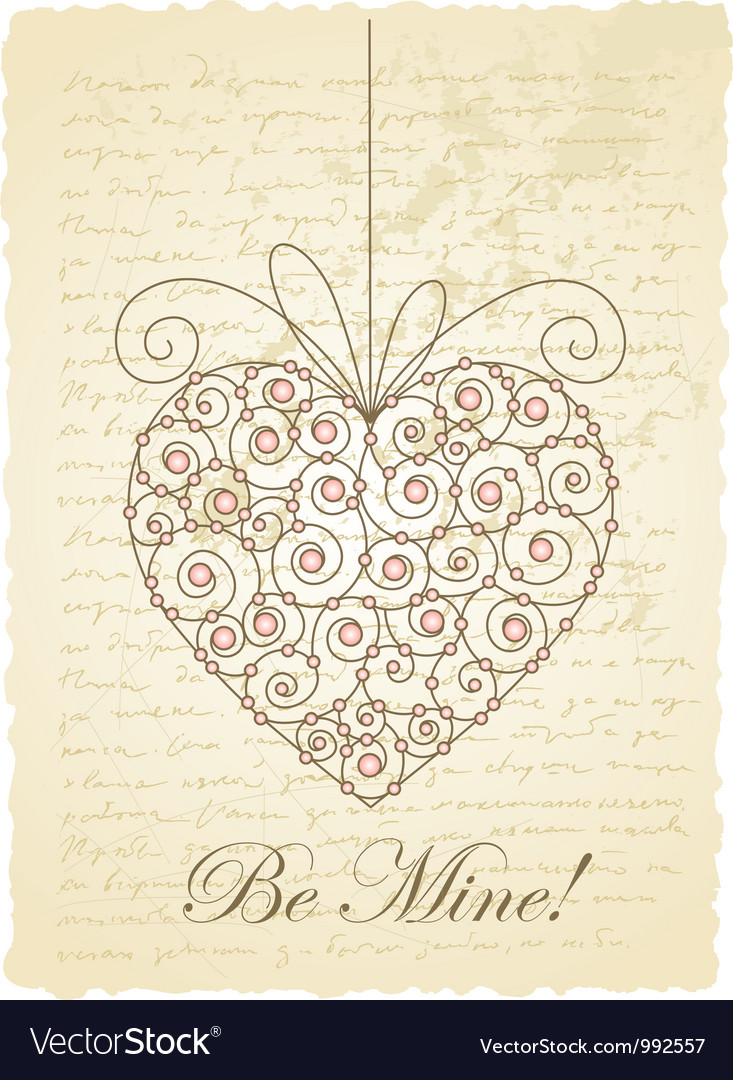 Vintage love card vector | Price: 1 Credit (USD $1)