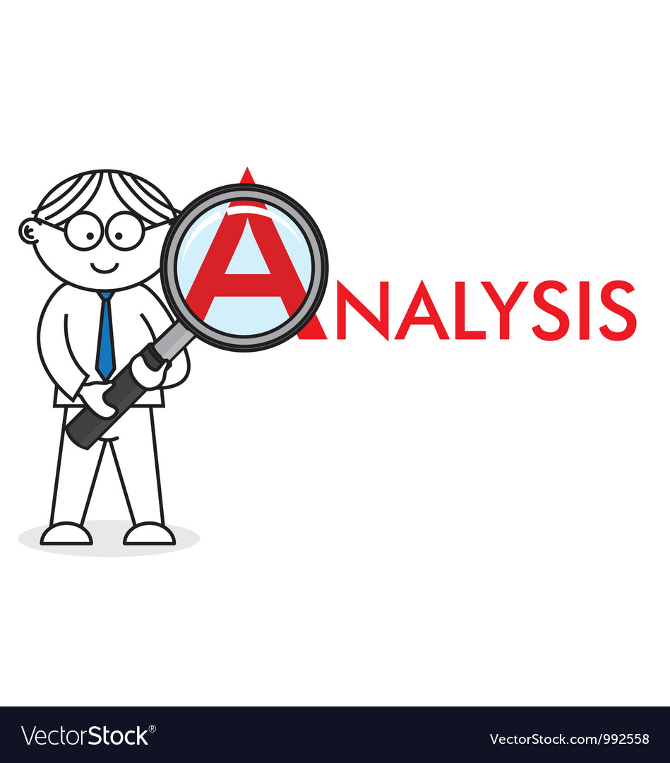 Analyst looking closely vector | Price: 1 Credit (USD $1)