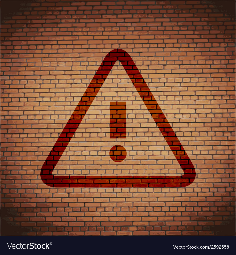 Danger exclamation mark flat modern web button and vector | Price: 1 Credit (USD $1)