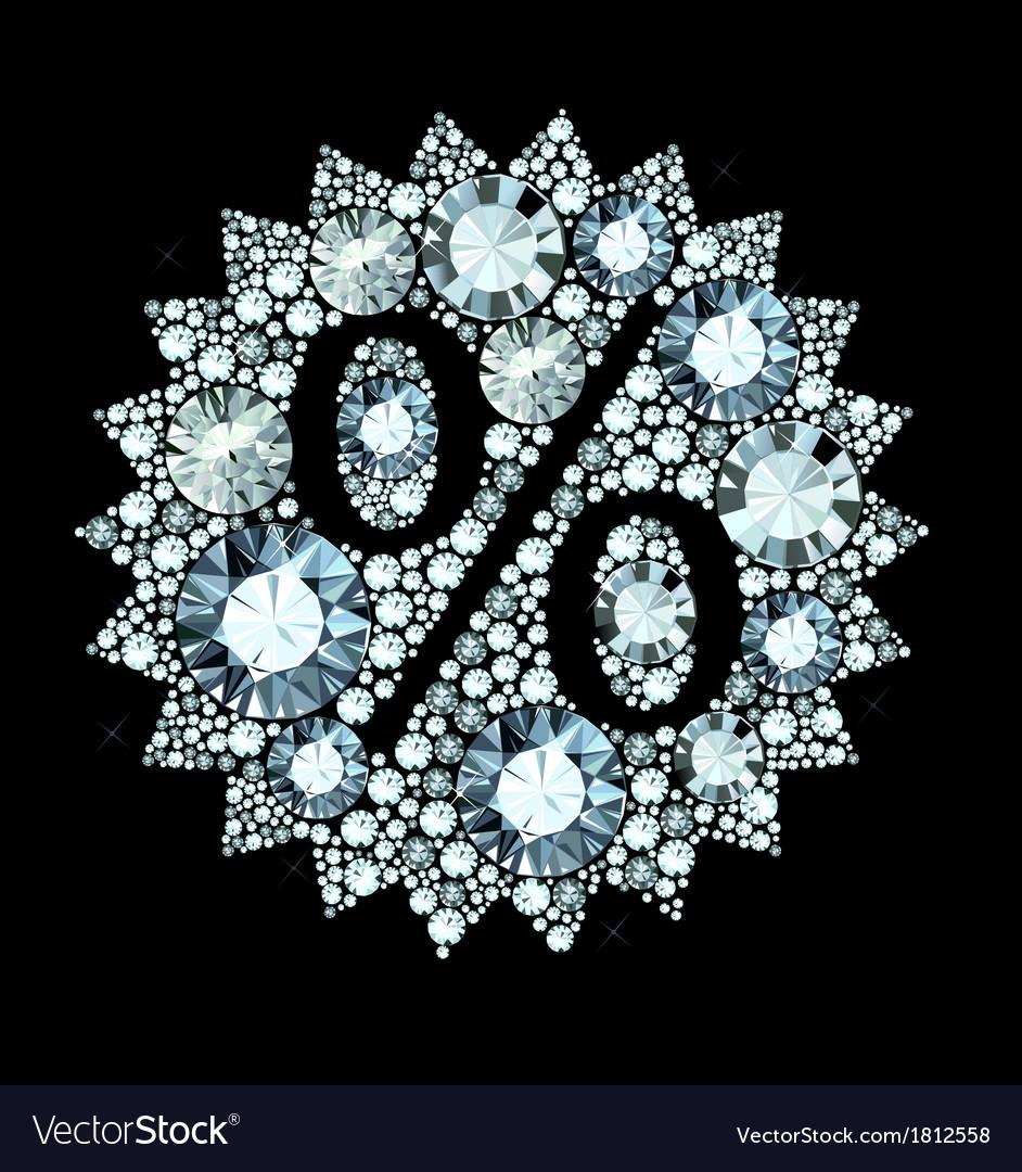 Diamond sale sign vector | Price: 1 Credit (USD $1)