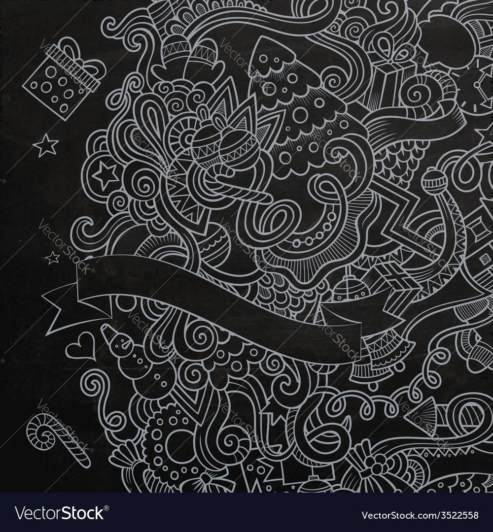 New year sketch chalkboard vector   Price: 1 Credit (USD $1)
