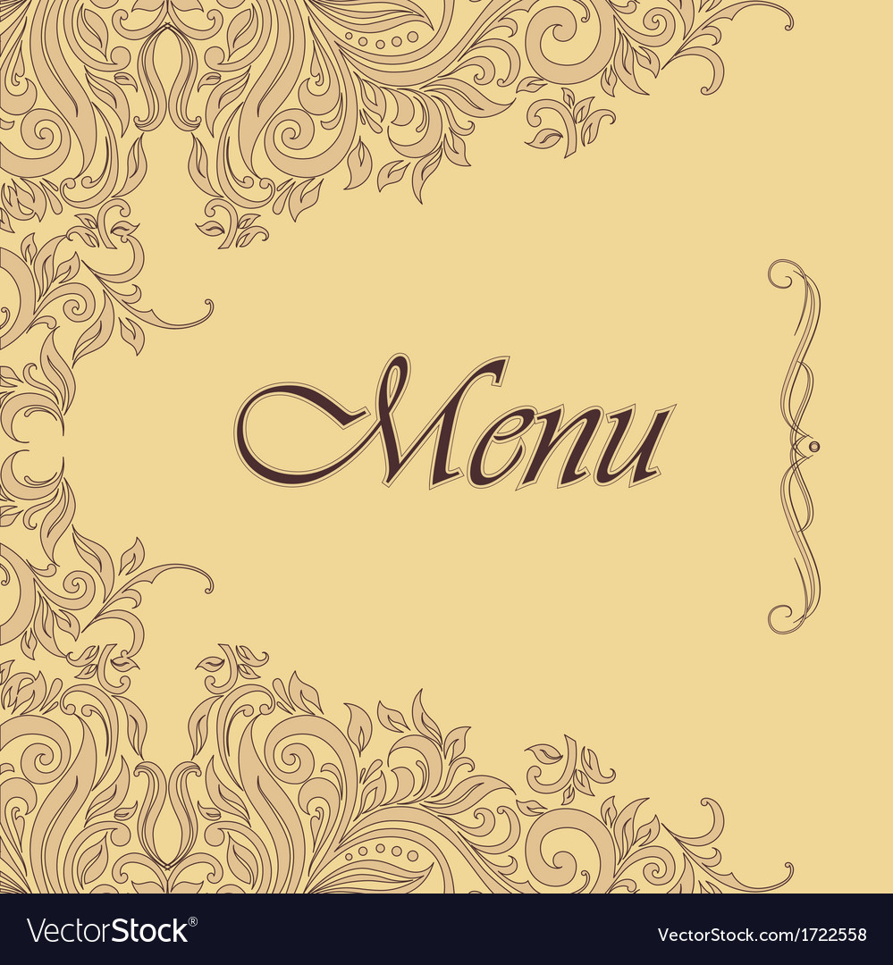 Ornate menu design vector | Price: 1 Credit (USD $1)