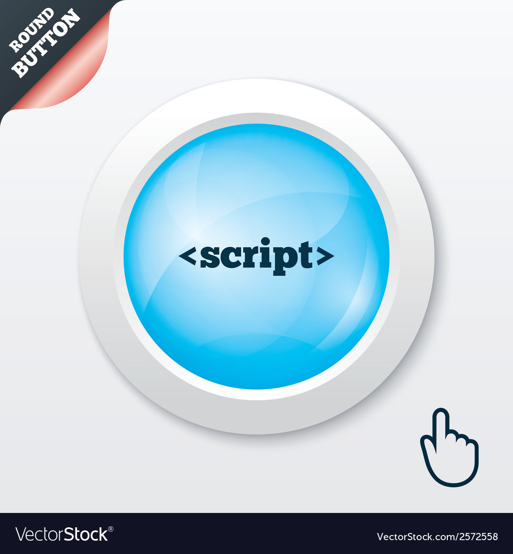 Script sign icon javascript code symbol vector | Price: 1 Credit (USD $1)
