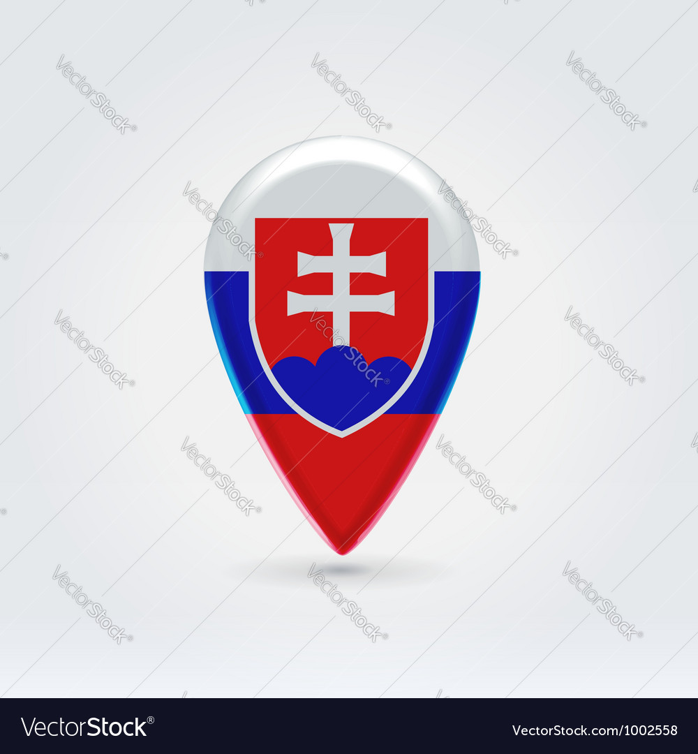 Slovakian icon point for map vector | Price:  Credit (USD $)