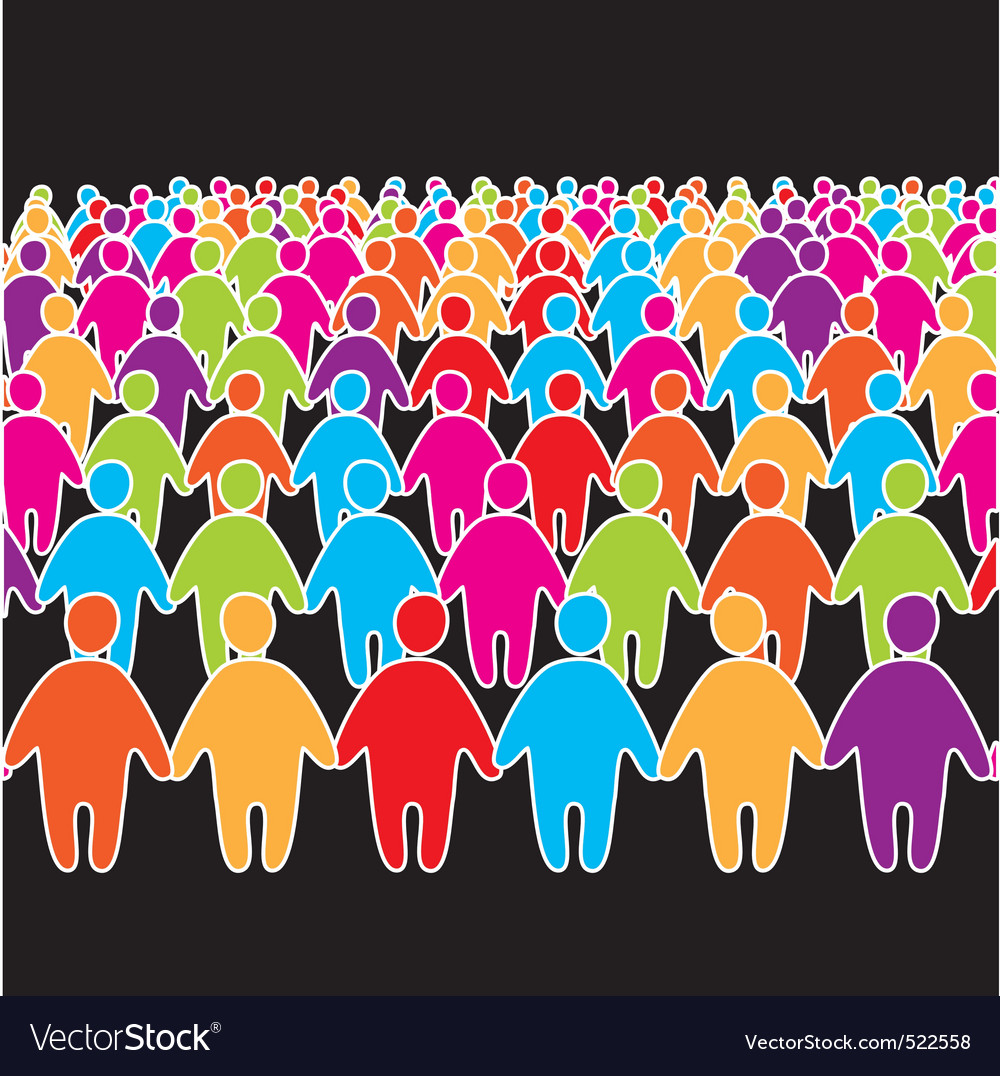 Social people group vector | Price: 1 Credit (USD $1)