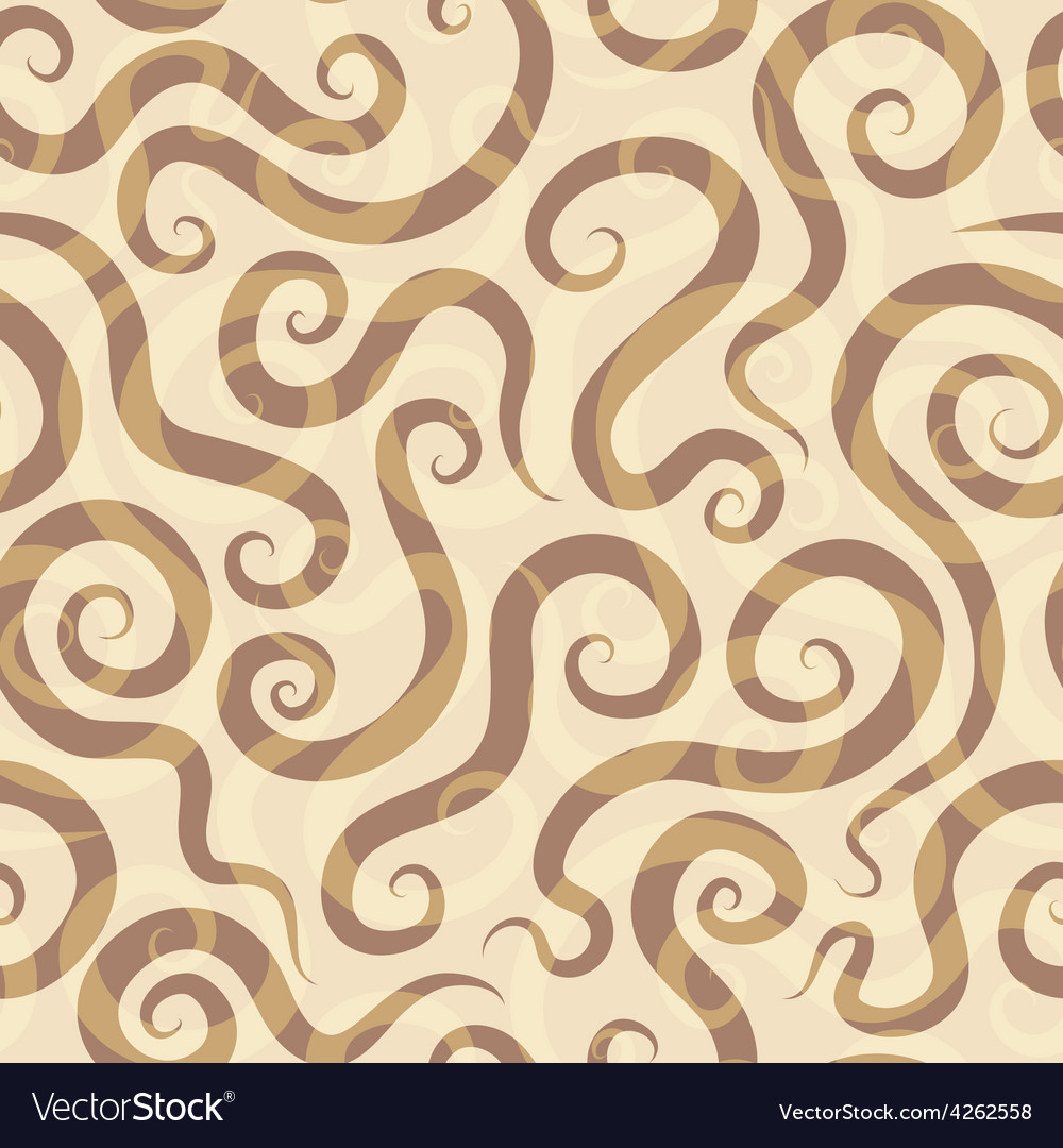 Spirals sand seamless pattern vector | Price: 1 Credit (USD $1)