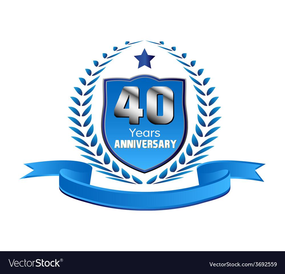 40 years anniversary vector | Price: 1 Credit (USD $1)