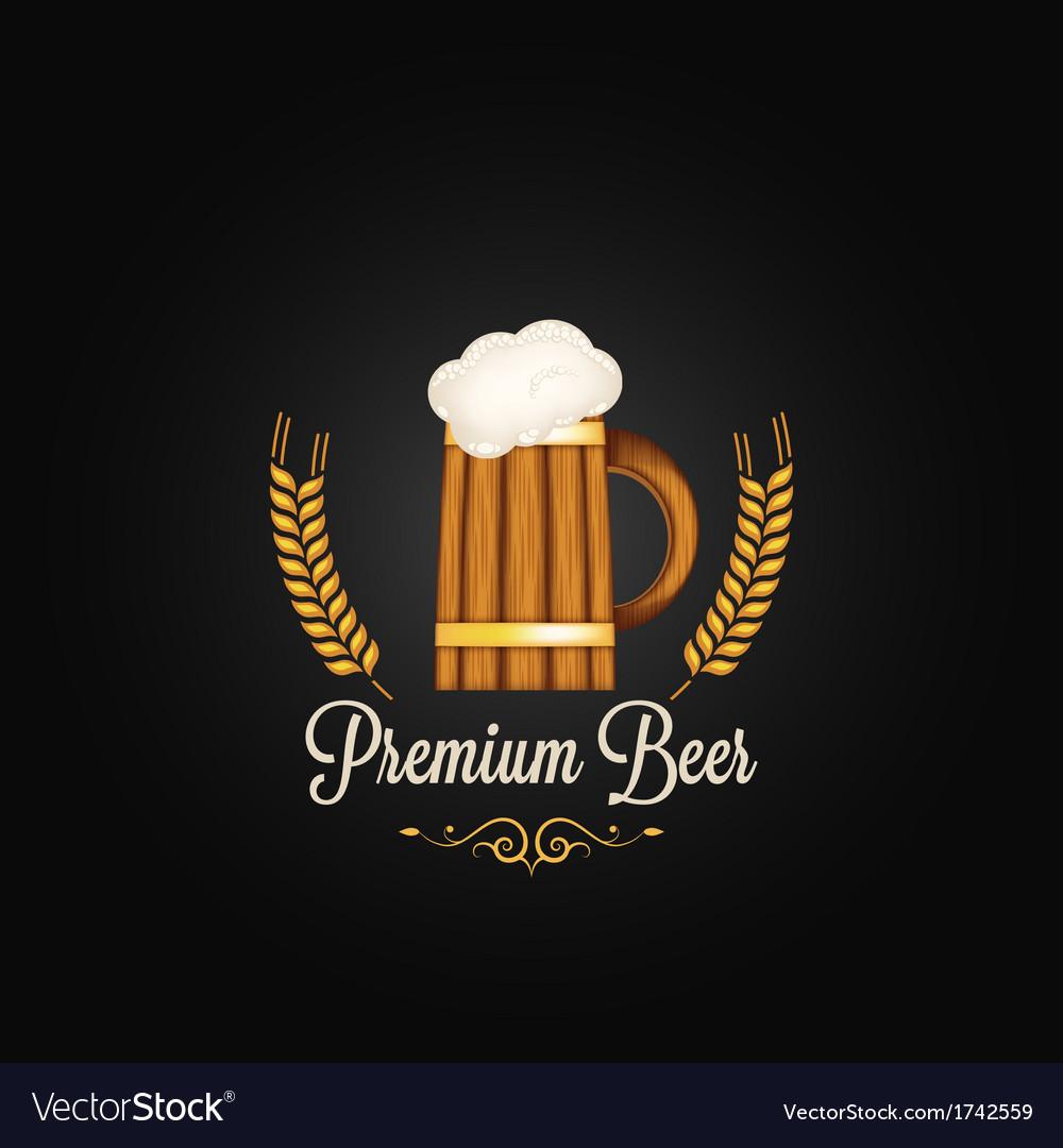 Beer mug vintage design background vector | Price: 1 Credit (USD $1)