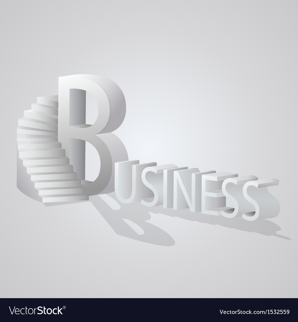 Business stair vector | Price: 1 Credit (USD $1)