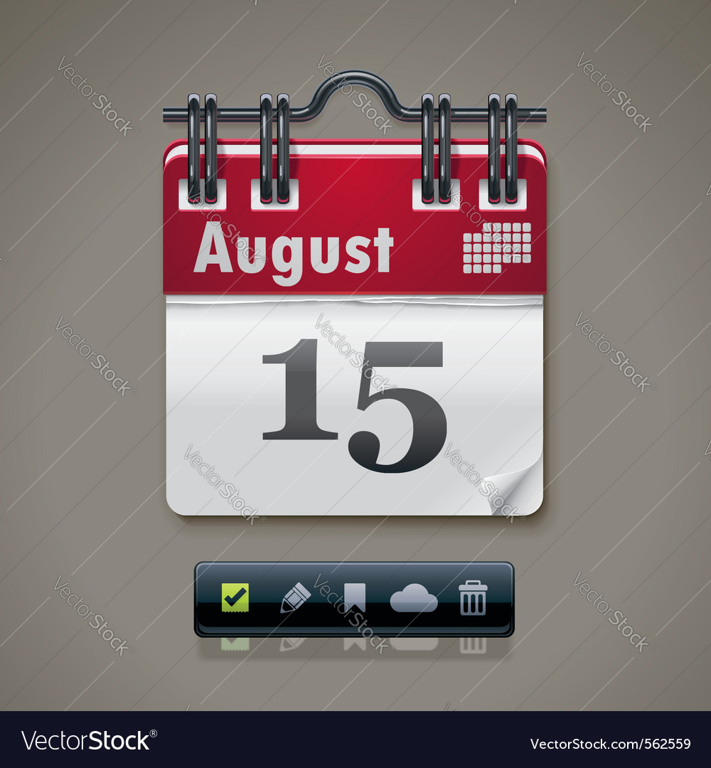 Calendar xxl icon vector | Price: 1 Credit (USD $1)