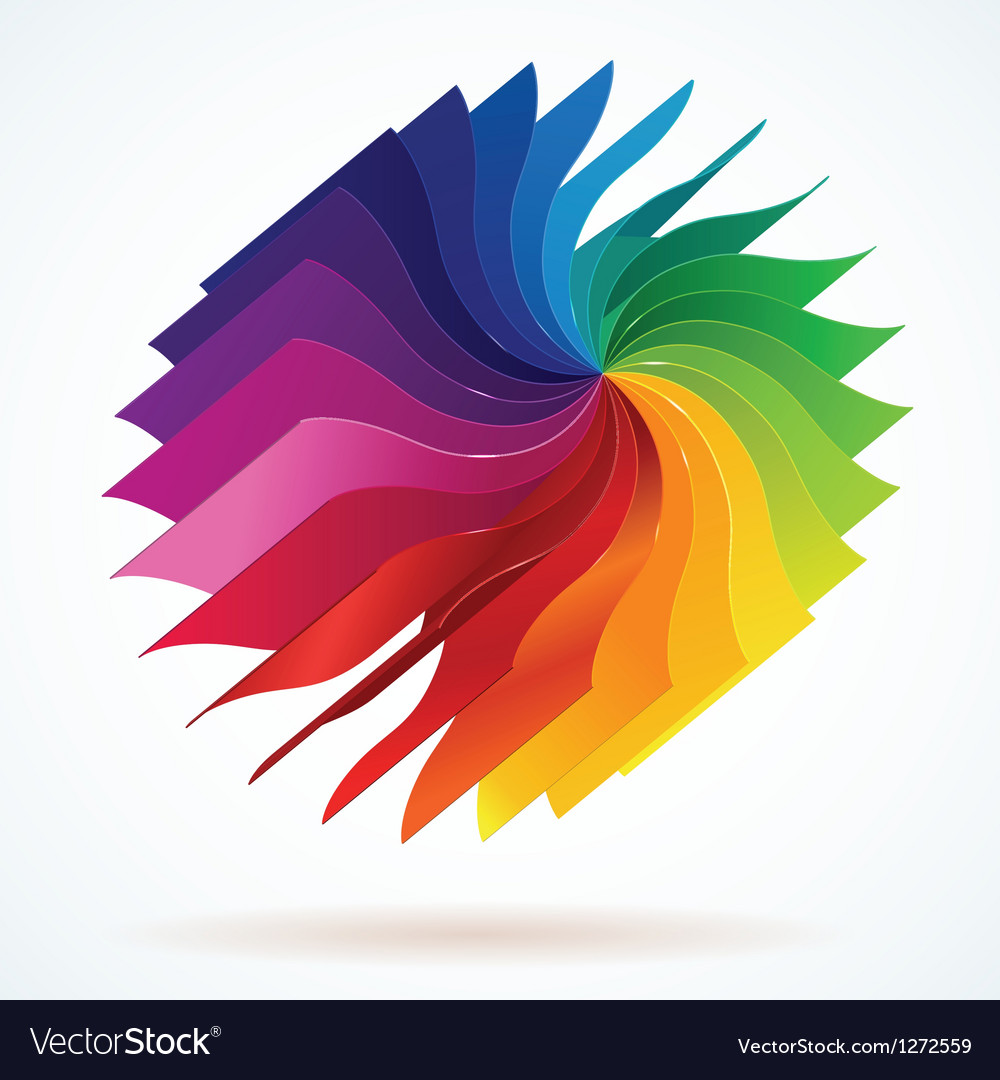 Colorful background with book pages rainbow vector   Price: 1 Credit (USD $1)
