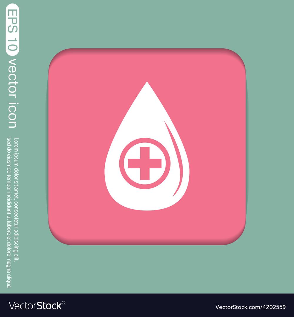 Drop with a cross medical symbol of liquid vector   Price: 1 Credit (USD $1)
