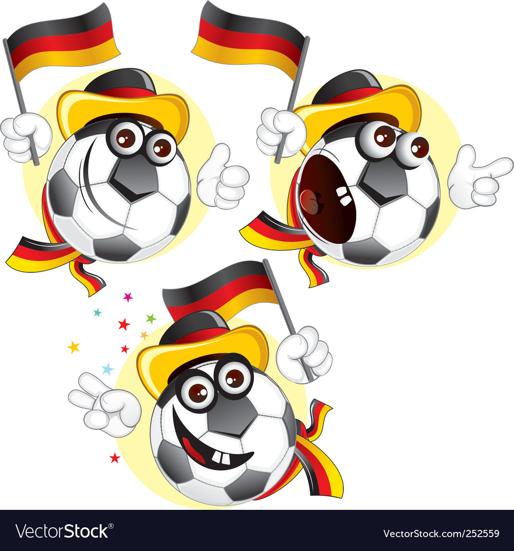 German football fan vector | Price: 3 Credit (USD $3)