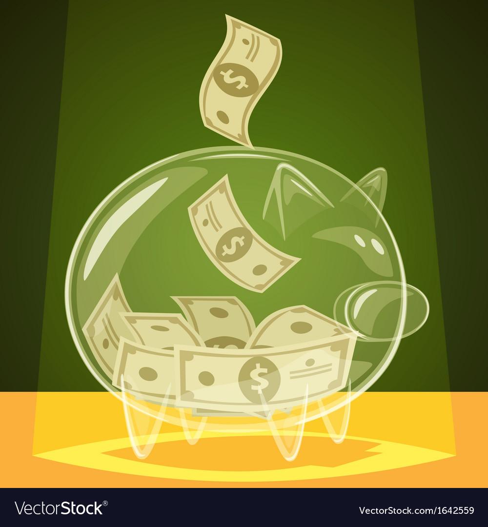 Glass piggy bank vector | Price: 1 Credit (USD $1)