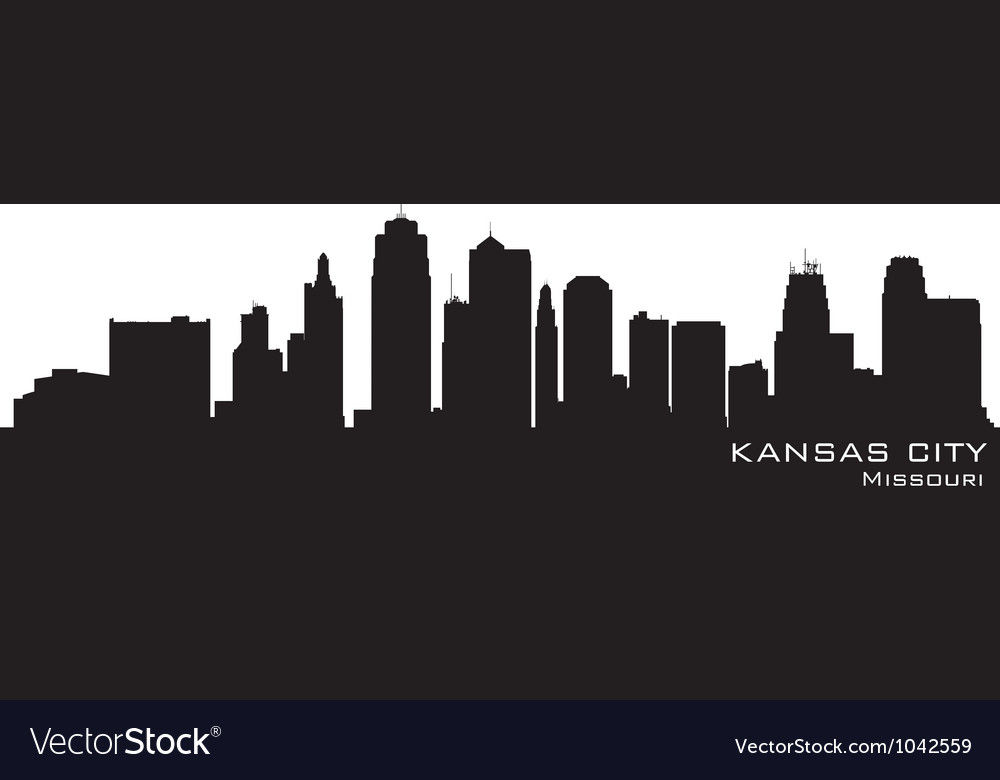 Kansas city missouri skyline vector | Price: 1 Credit (USD $1)
