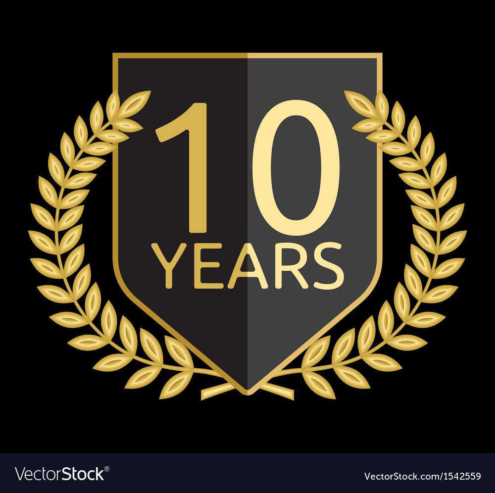 Laurel wreath 10 years vector | Price: 1 Credit (USD $1)