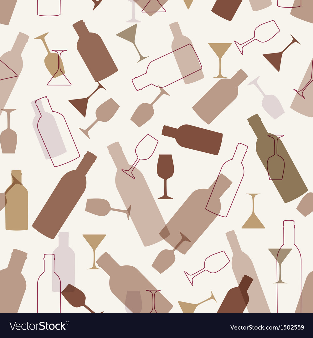 Restaurant or wine bar menu design seamless vector | Price: 1 Credit (USD $1)