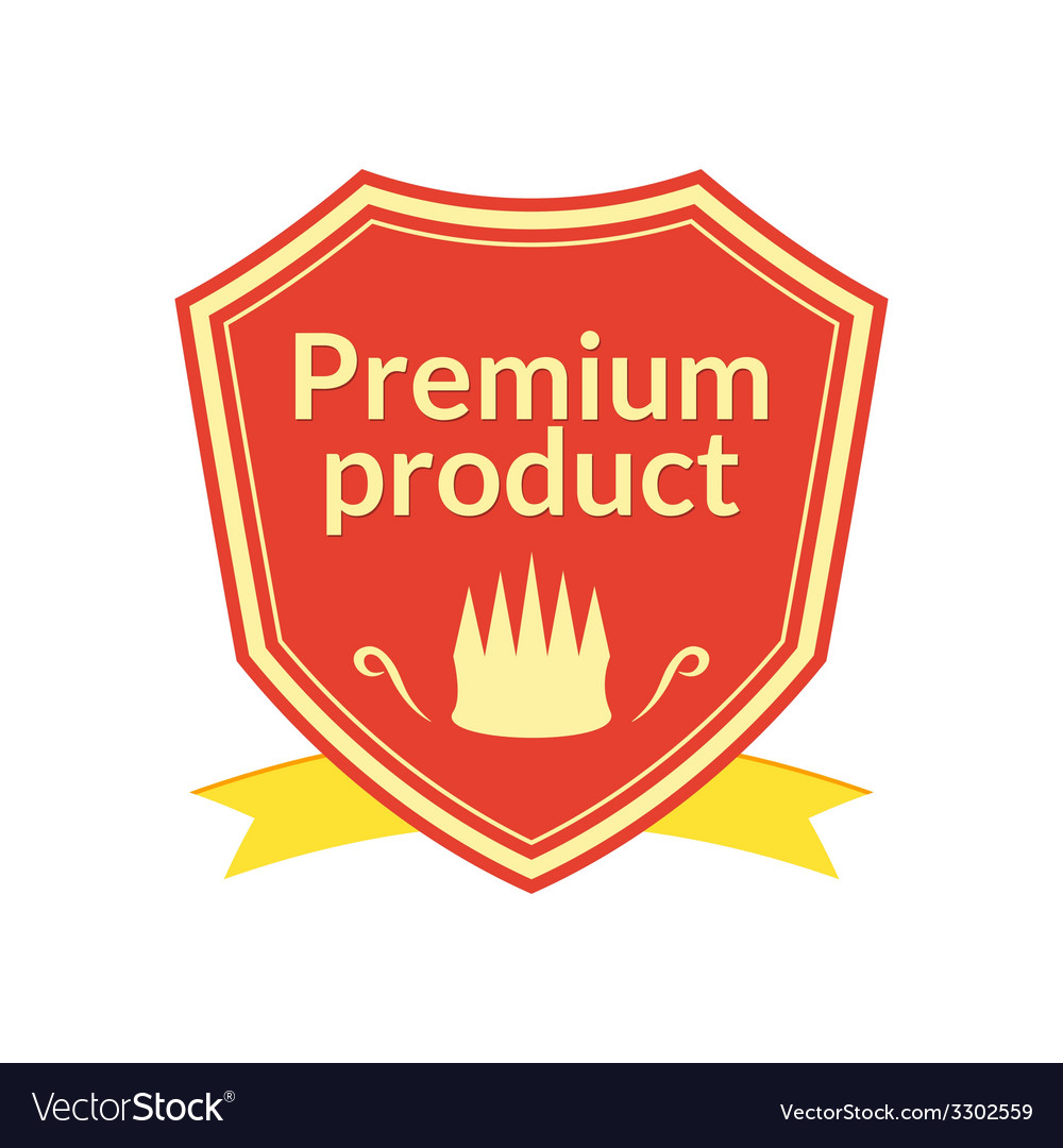 Retro premium product label vector | Price: 1 Credit (USD $1)
