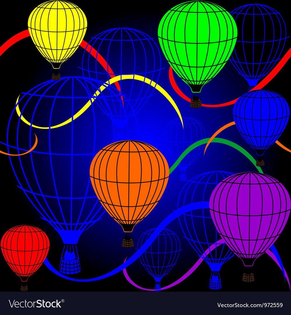 Seamless background with rainbow balloons vector | Price: 1 Credit (USD $1)