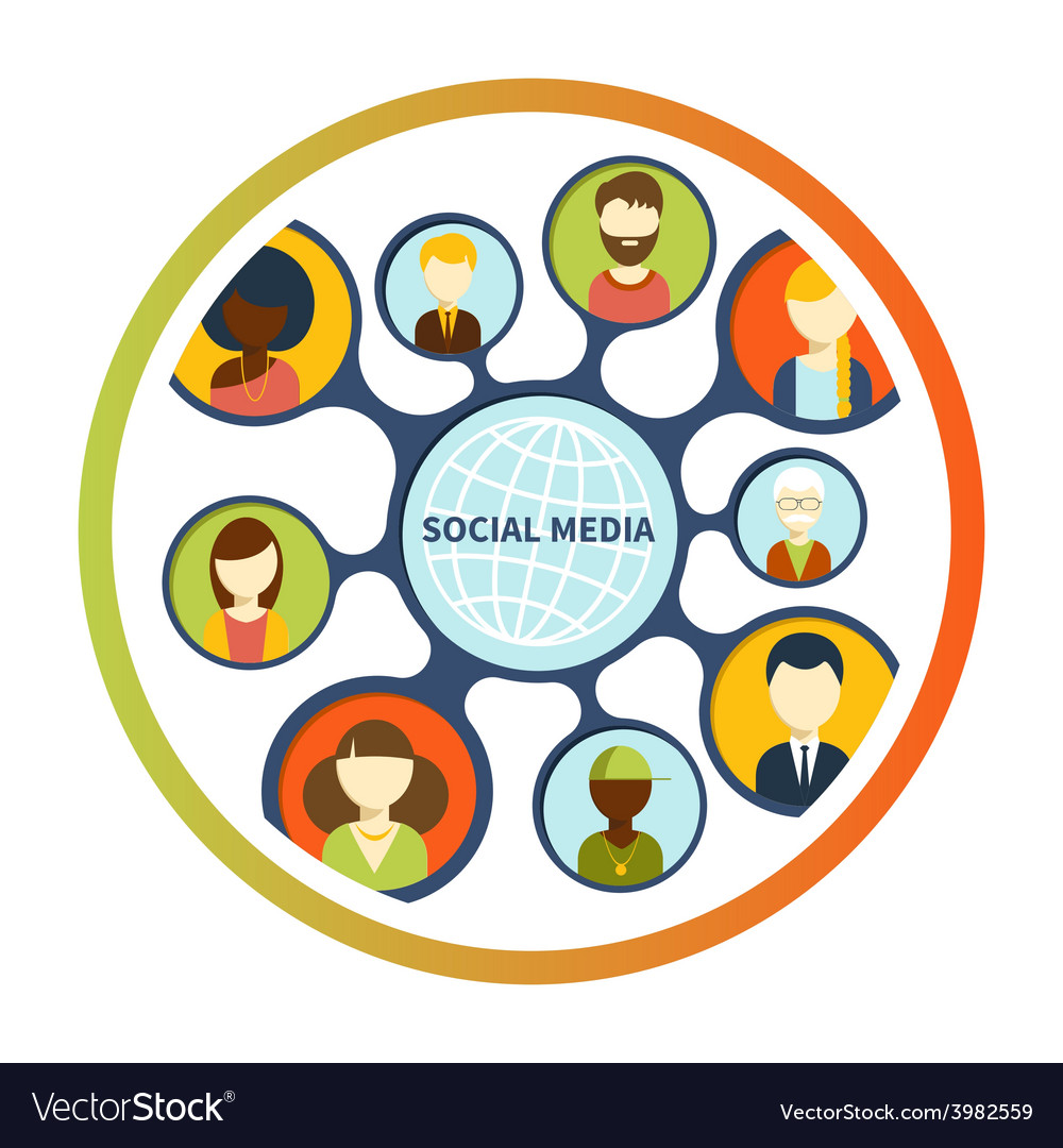 Social media network connection concept vector   Price: 1 Credit (USD $1)