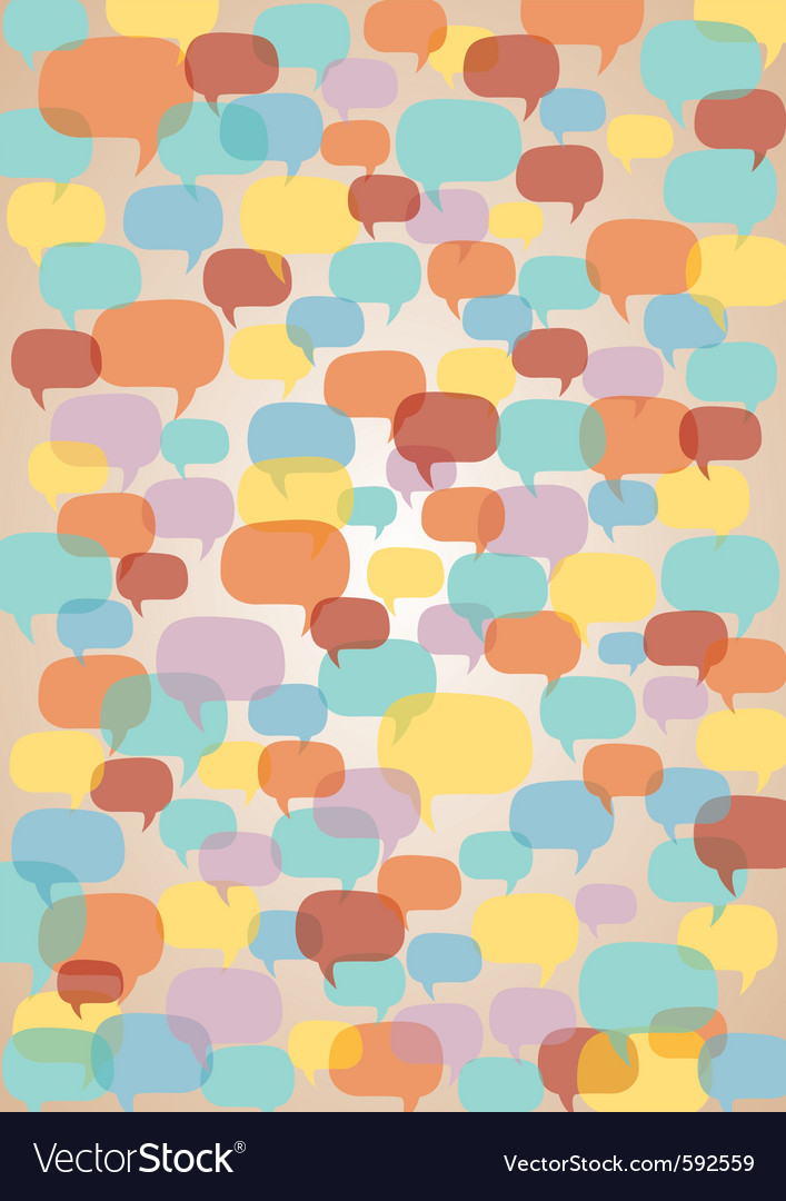Speech bubbles background vector | Price: 1 Credit (USD $1)