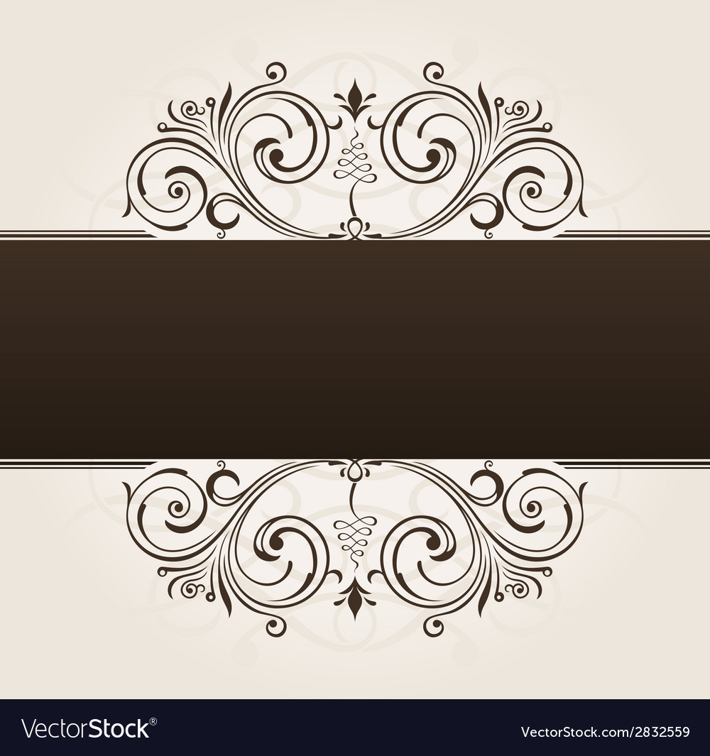 Template for text vintage frame decorated vector | Price: 1 Credit (USD $1)