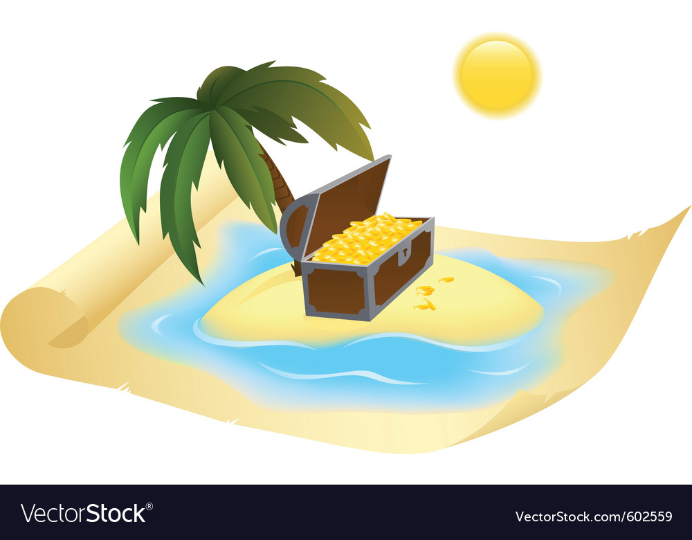 Treasure map vector | Price: 3 Credit (USD $3)