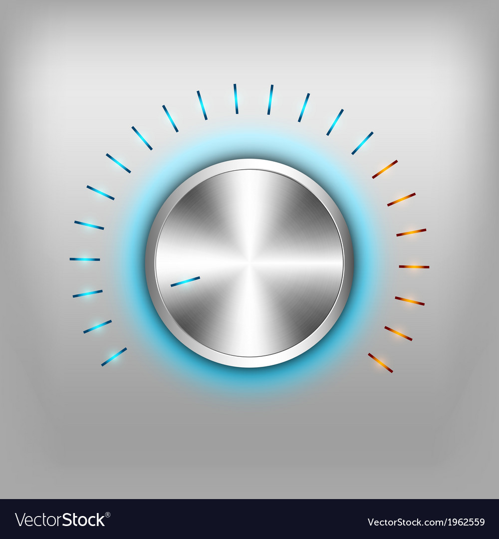 Volume button neon vector | Price: 1 Credit (USD $1)