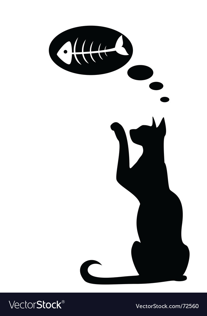 Dreaming cat vector | Price: 1 Credit (USD $1)